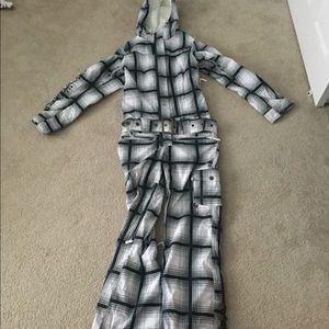Roxy Plaid Snow Suit